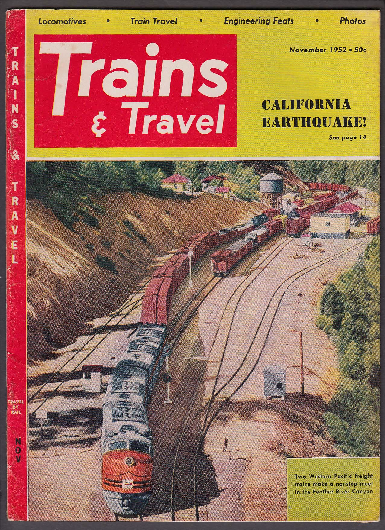 Image for TRAINS & TRAVEL Sahara US Diesels French Electrics New Haven Wire ++ 11 1952