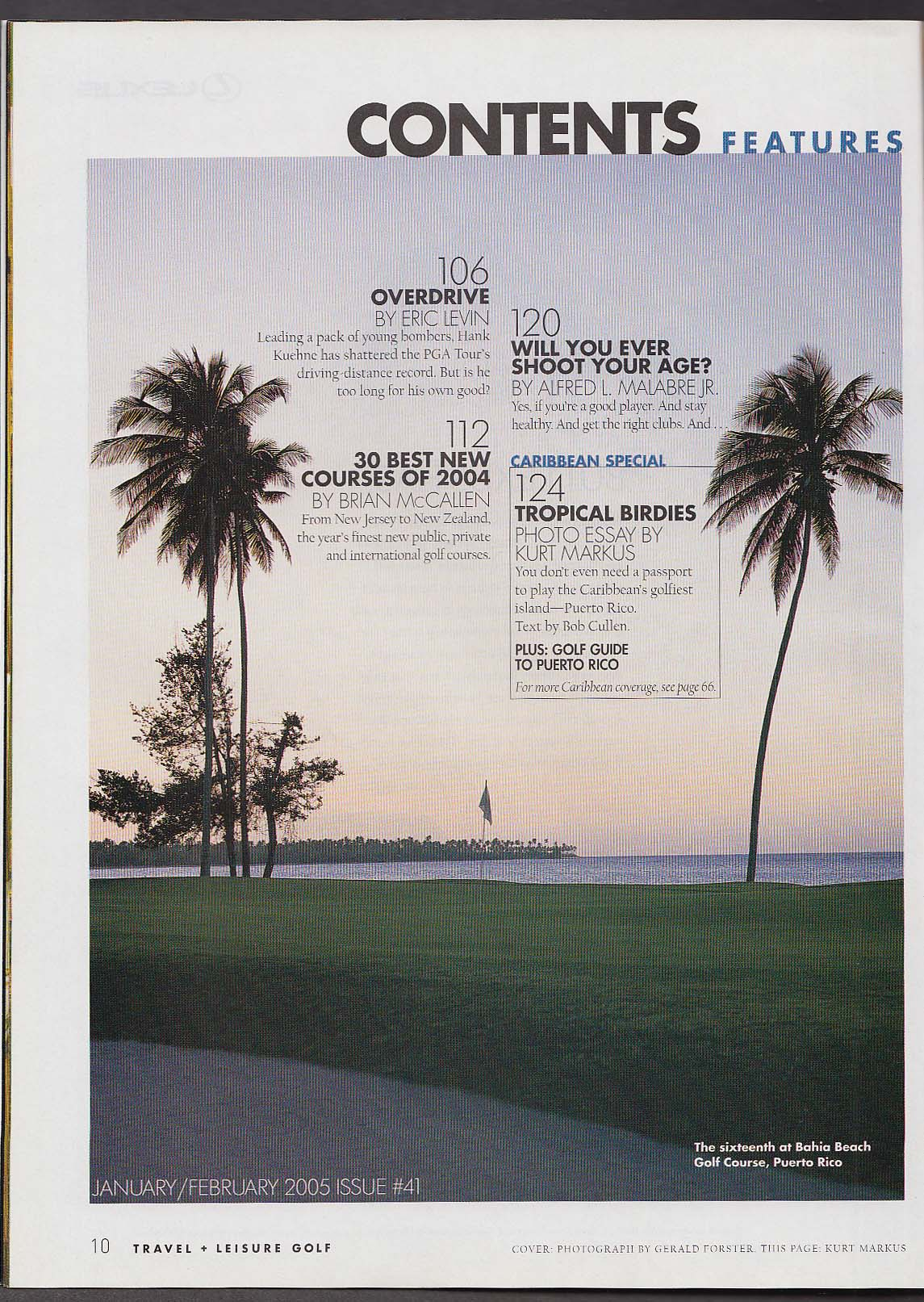 Image for TRAVEL + LEISURE GOLF Hank Kuehne Sergio Garcia + 1-2 2005