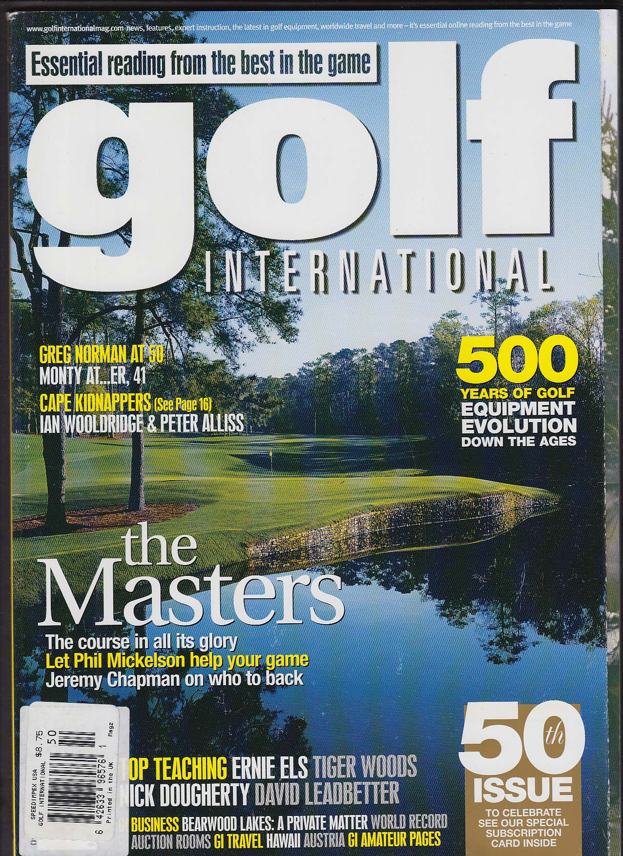 Image for GOLF INTERNATIONAL Phil Mickelson Jeremy Chapman Ian Woolridge ++ 4 2005
