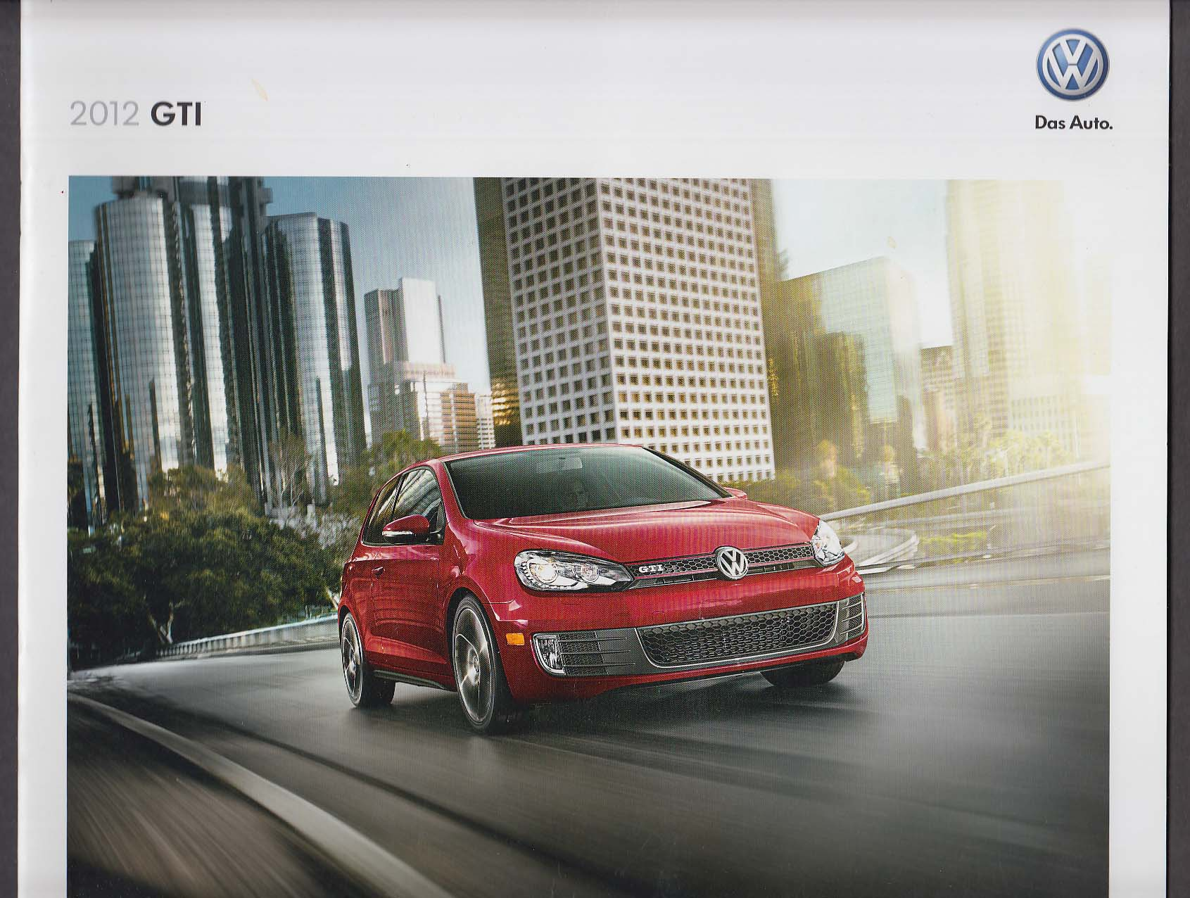 Image for 2012 Volkswagen GTI sales brochure catalog
