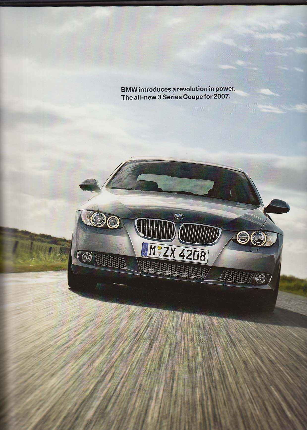 Image for 2007 BMW 3 Series Coupe sales brochure catalog 328i 328xi 335i