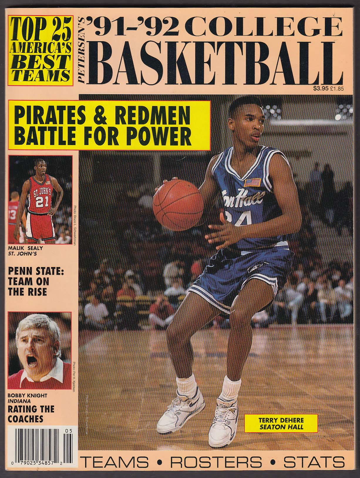 Image for PETERSEN'S 1991-1992 College Basketball: Terry Dehere Malik Sealy Bobby Knight +