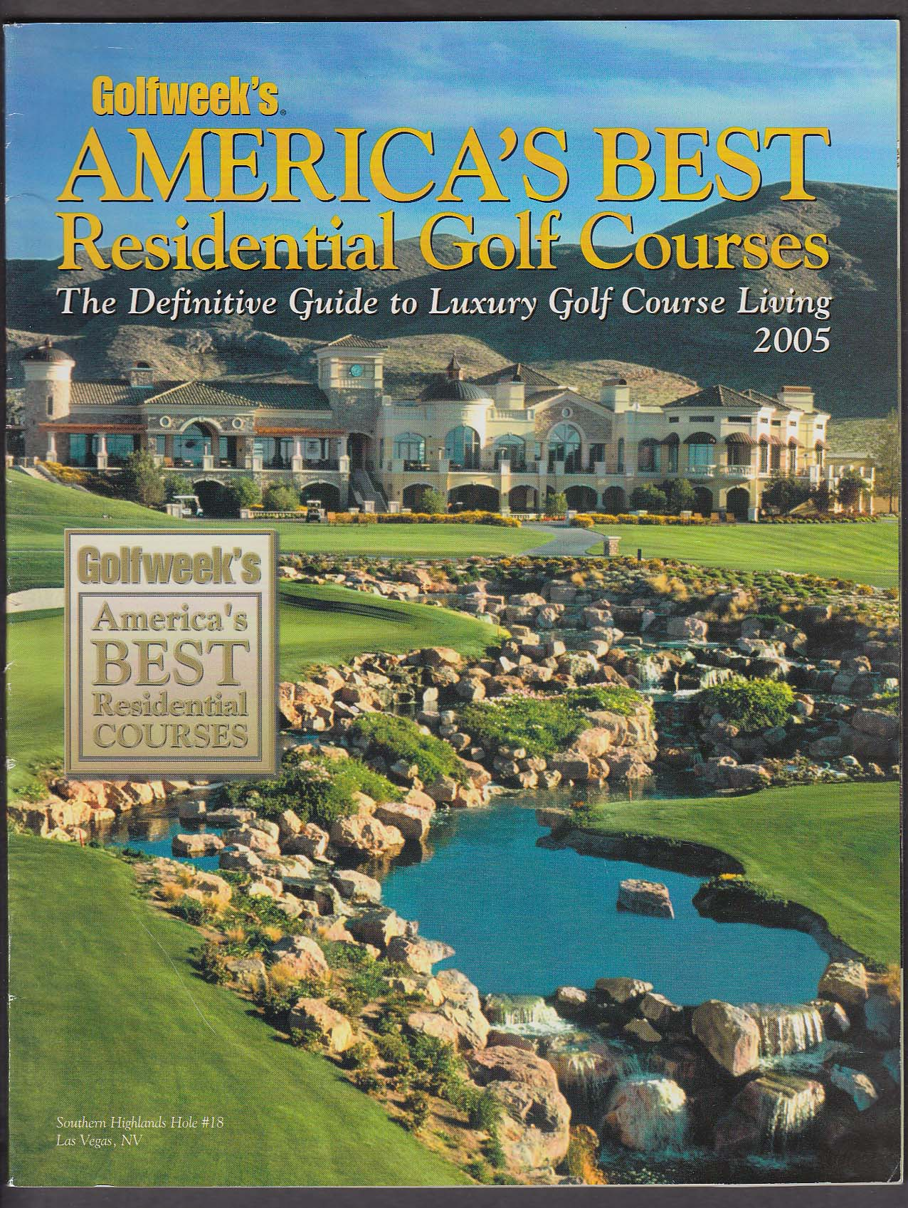 Image for GOLFWEEK America's Best Residential Golf Courses 2005