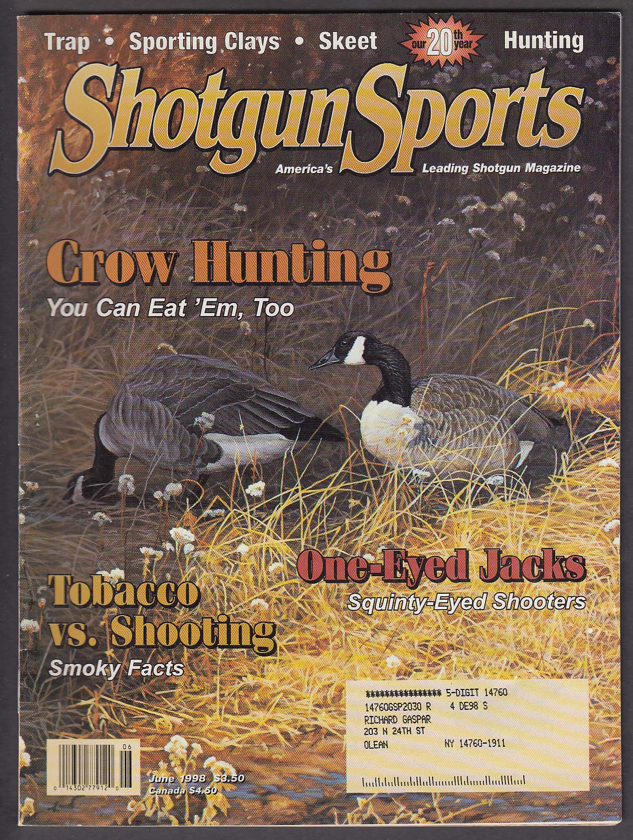 Image for SHOTGUN SPORTS Hodgdon Titewad Tobacco Over/Under Trap Gun + 6 1998