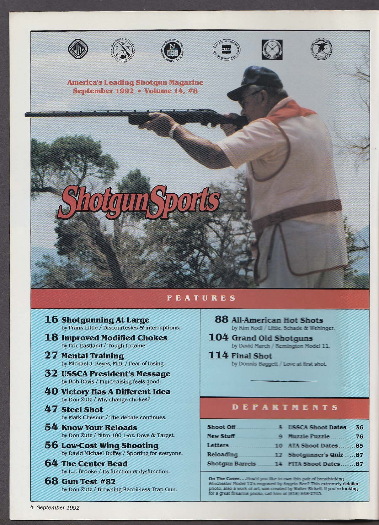 Image for SHOTGUN SPORTS Remington Model 11 Nitro 100 1-oz Browning Recoilless + 9 1992