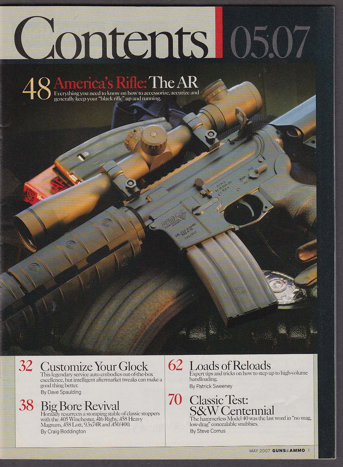Image for GUNS & AMMO AR-15 Weatherby Mark XXII Stoeger Outback Smith & Wesson 5 2007
