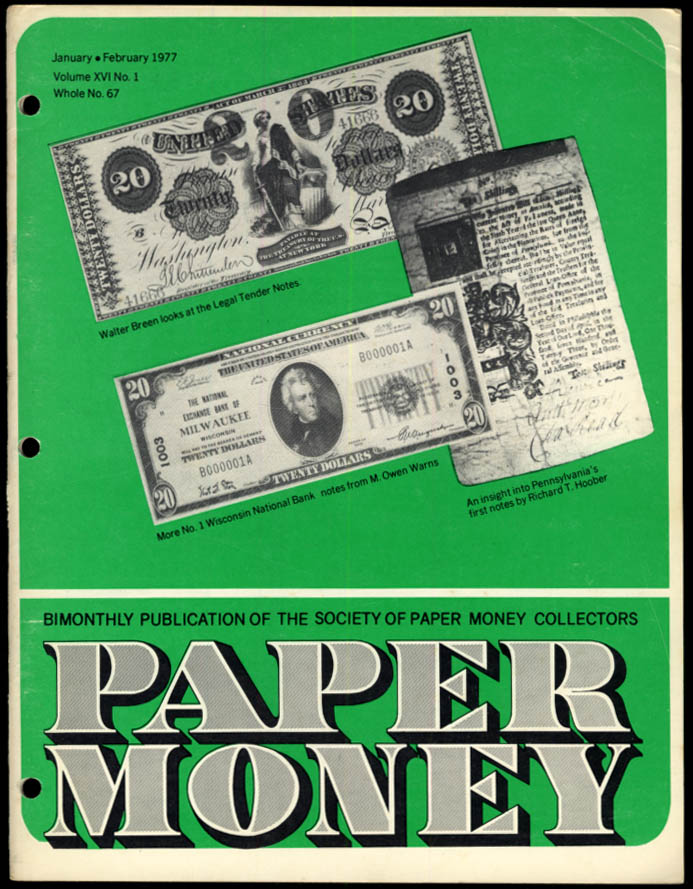 Image for PAPER MONEY 1-2 1977 PA 1st Notes; Number Ones; KS Bogus & Questionables