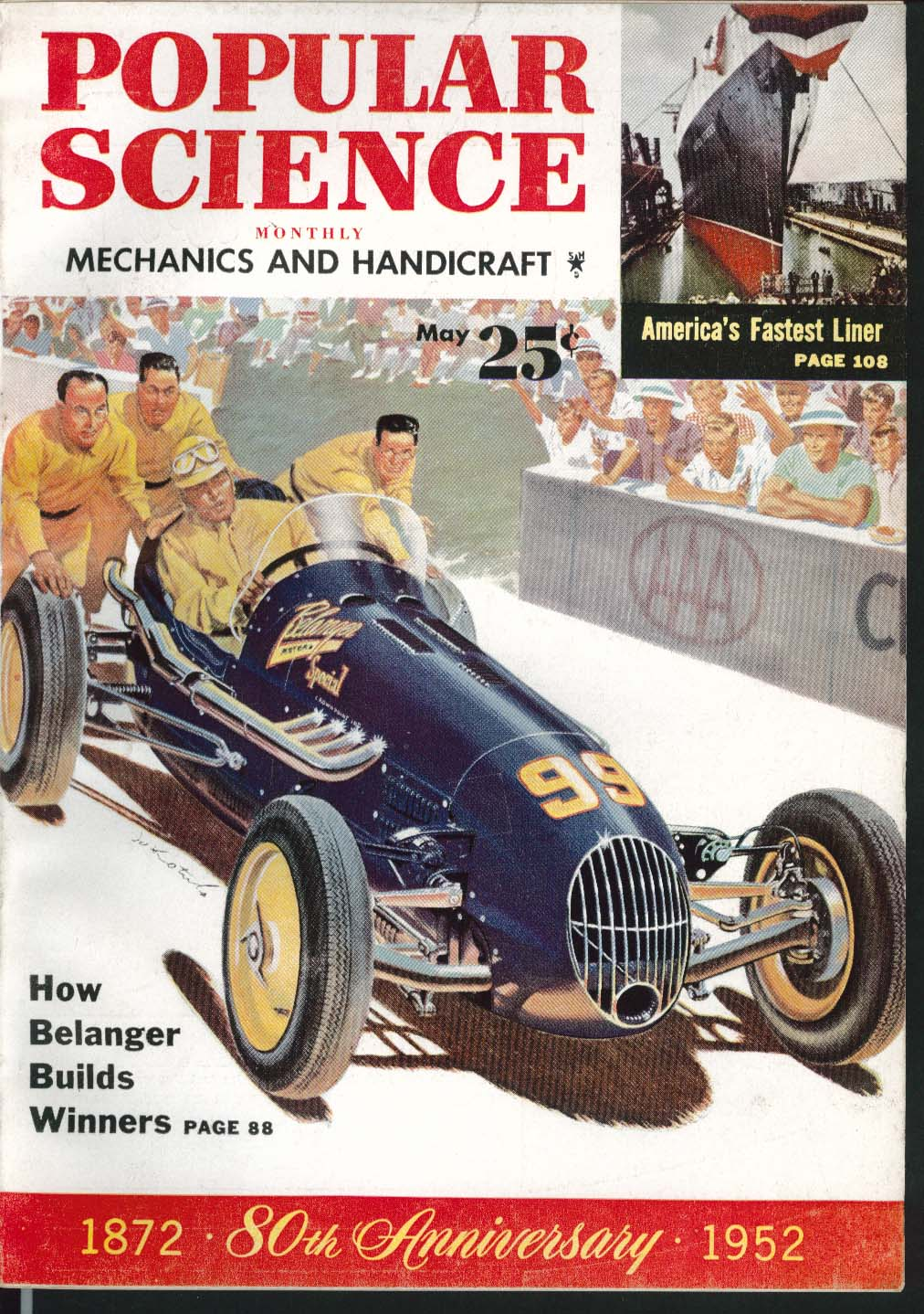 Image for POPULAR SCIENCE Soapbox Racers Kaiser road test Electrical Outlet ++ 5 1952