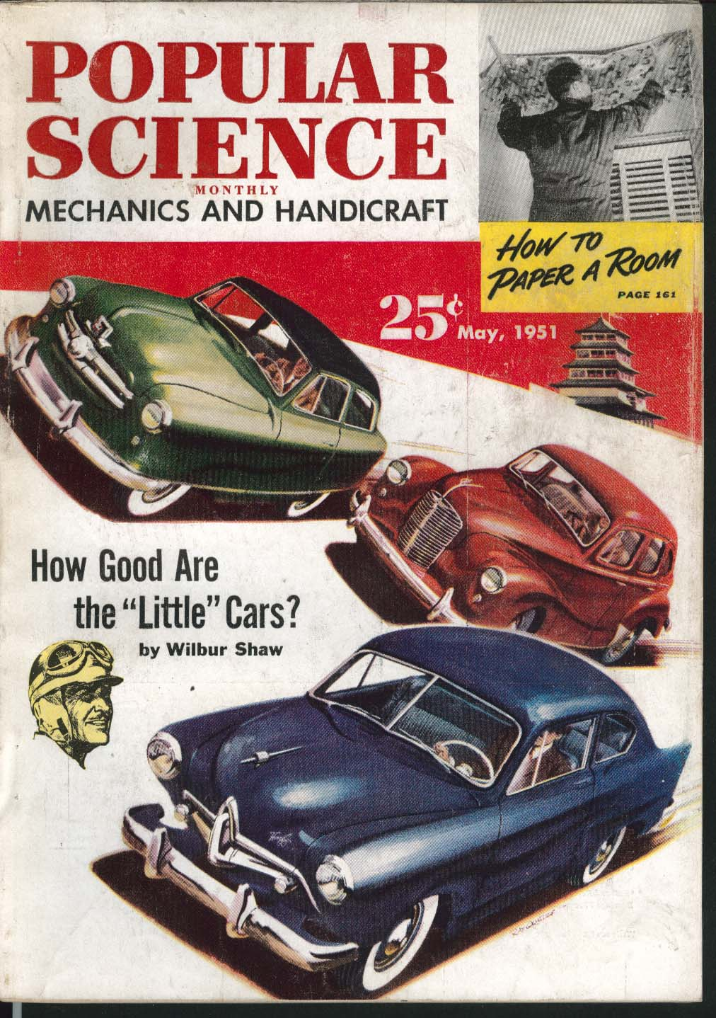 Image for POPULAR SCIENCE Wilbur Shaw Little Cars Dream Railroad Tennis Rackets ++ 5 1951