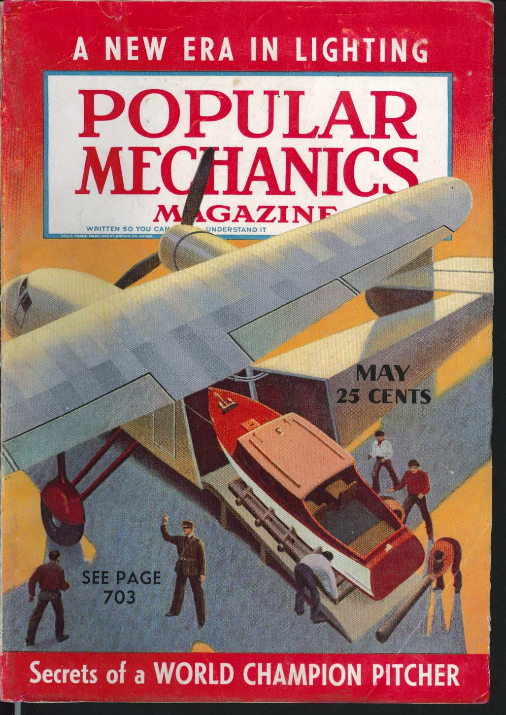 Image for POPULAR MECHANICS Monte Pearson Baseball Pitching Sampson Comet Speedster 5 1939