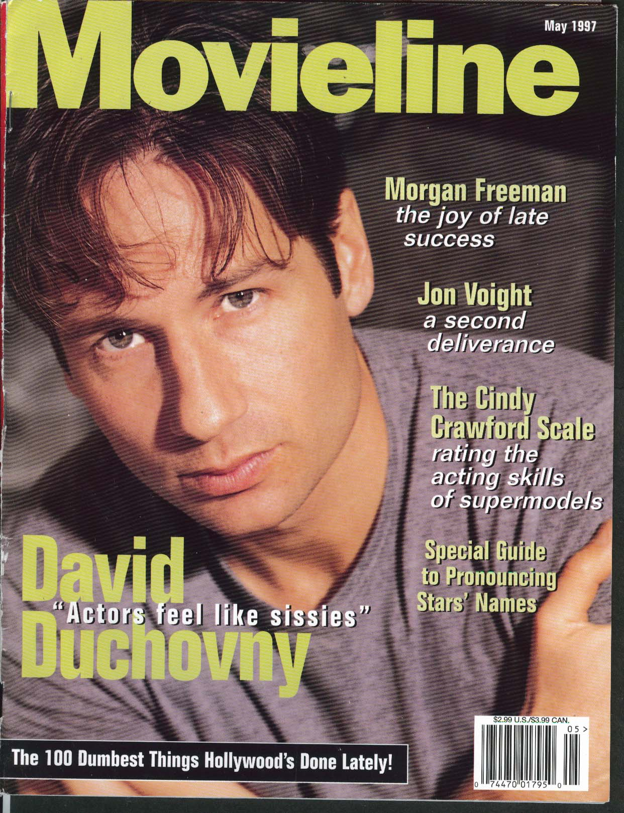 Image for MOVIELINE David Duchovny Morgan Freeman Jon Voight Cindy Crawford ++ 5 1997