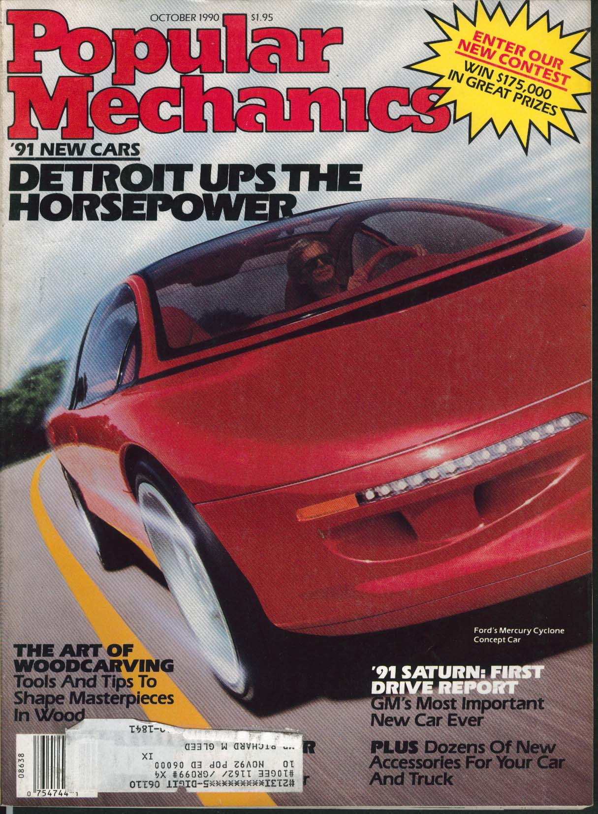 Image for POPULAR MECHANICS Ford Mercury Cyclone Concept 1991 Saturn test drive ++ 10 1990