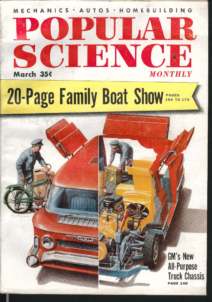 Image for POPULAR SCIENCE Chevrolet Plymouth Station Wagons General Motors Trucks + 3 1955