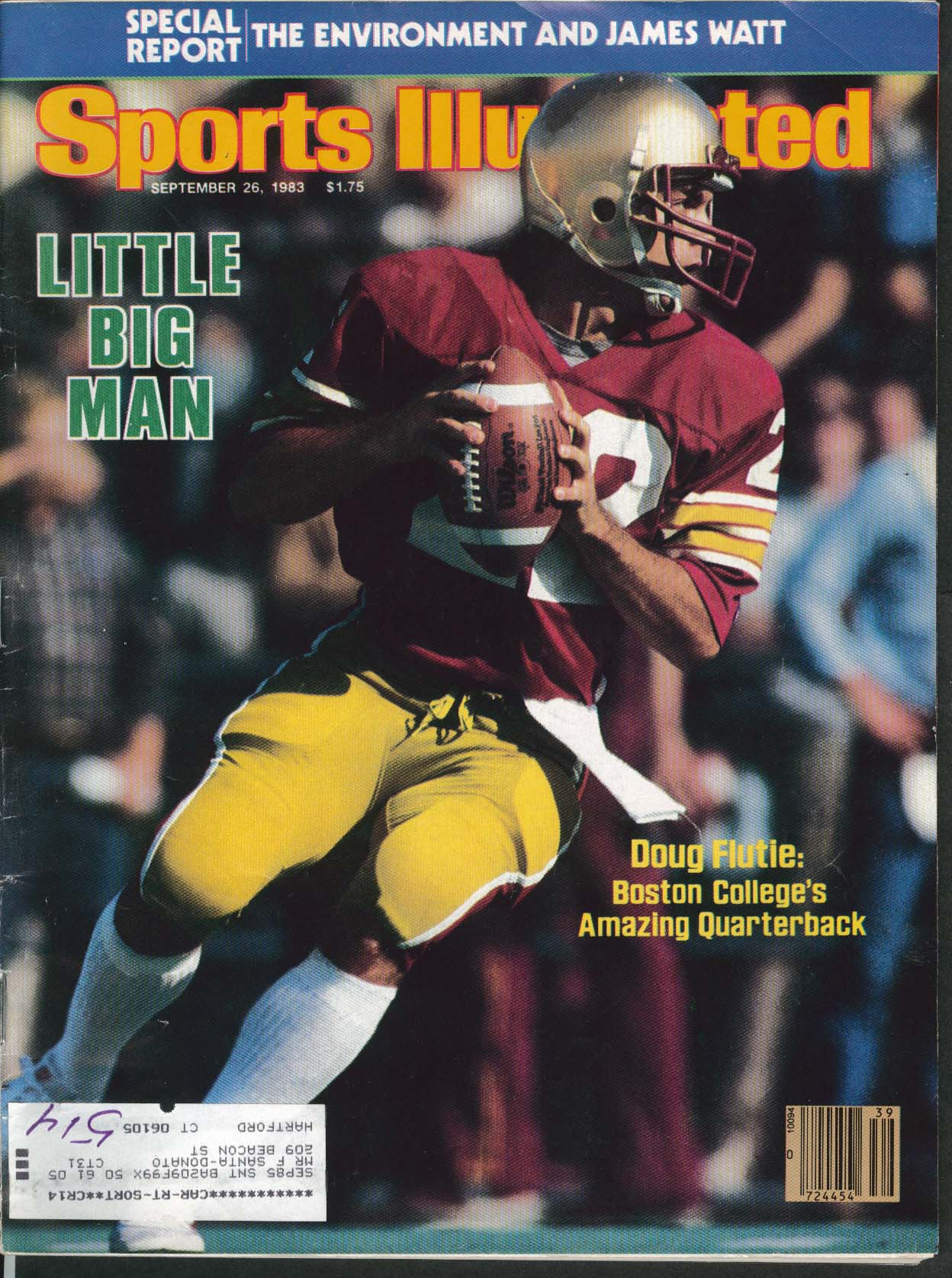 Image for SPORTS ILLUSTRATED Doug Flutie Steve Pelluer Lynn Dickey James Watt ++ 9/26 1983