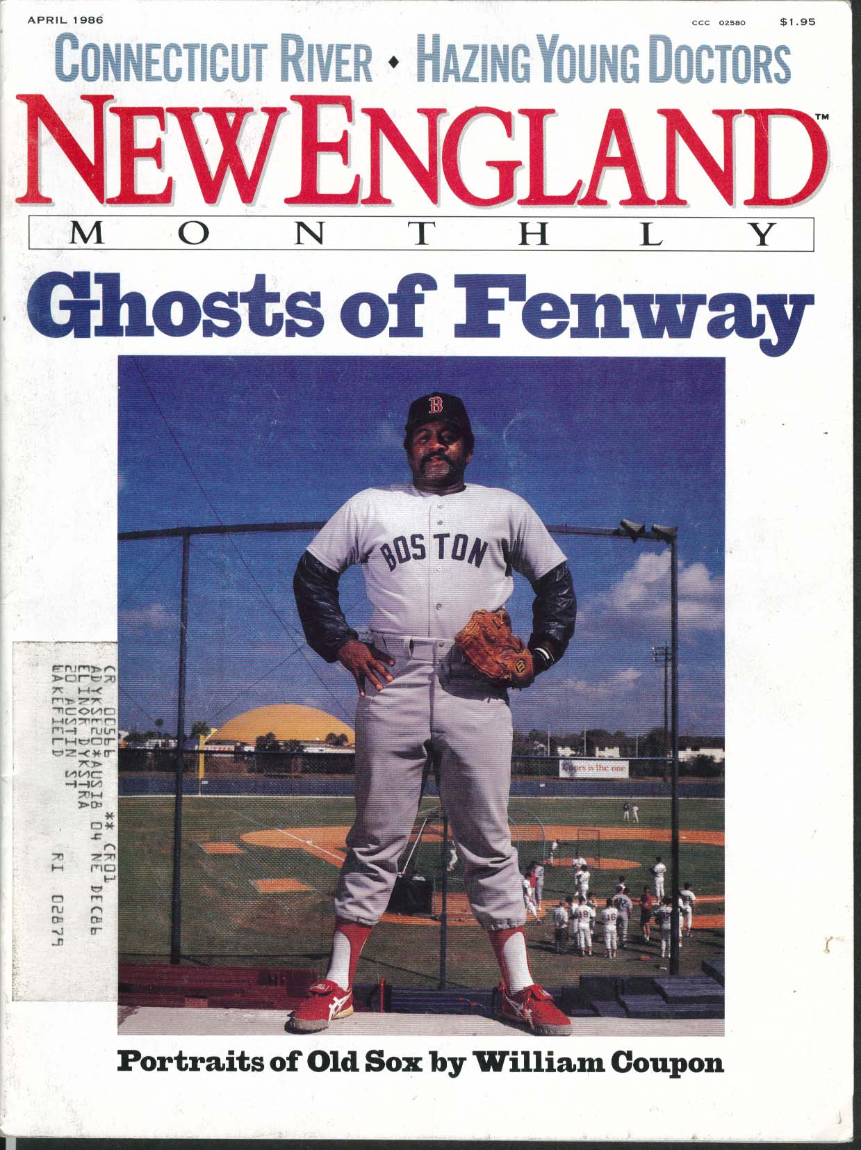 Image for NEW ENGLAND William Coupon Red Sox Spalding Gray Jonathan Harr ++ 4 1986