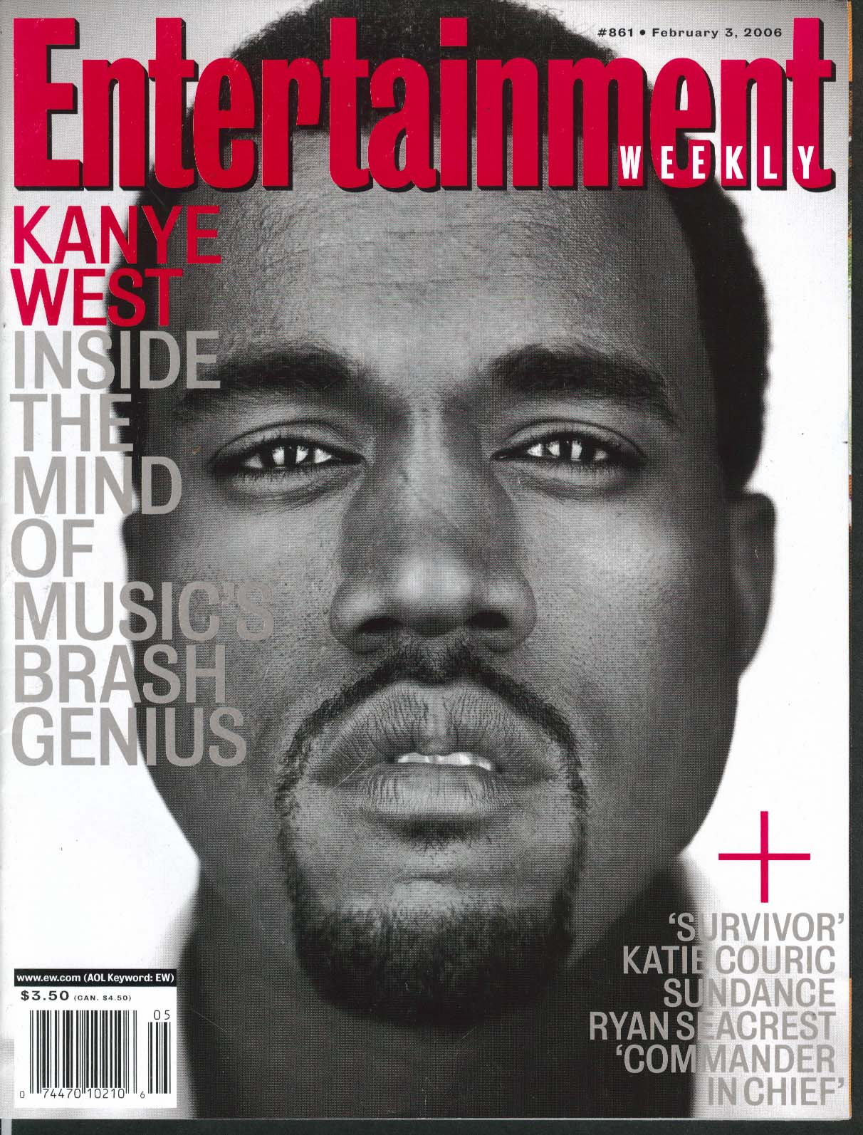 Image for ENTERTAINMENT WEEKLY Kanye West Katie Couric Ryan Seacrest Geena Davis 2/3 2006