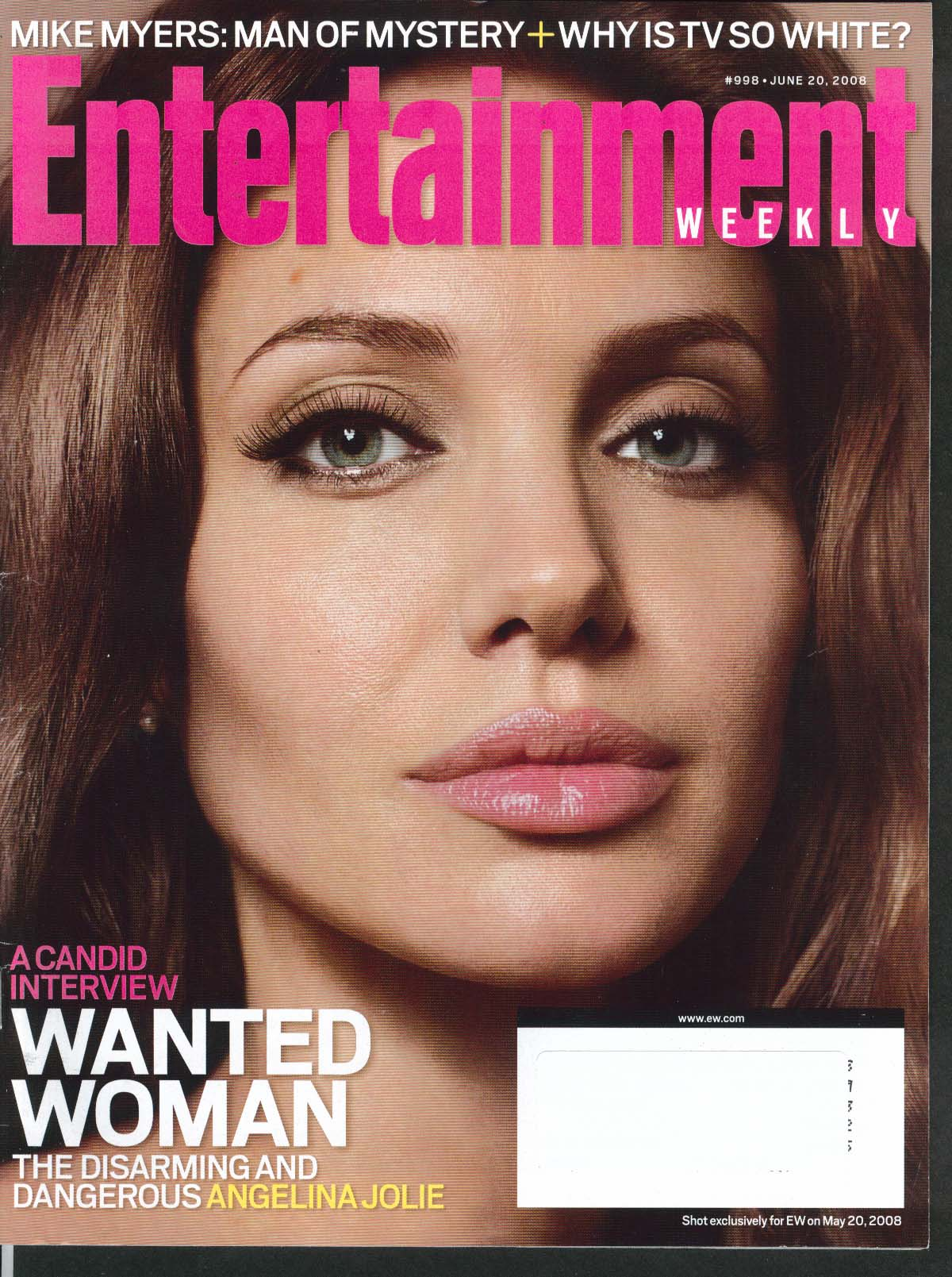 Image for ENTERTAINMENT WEEKLY #998 Angelina Jolie Mike Myers Olivia Thirlby ++ 6/20 2008