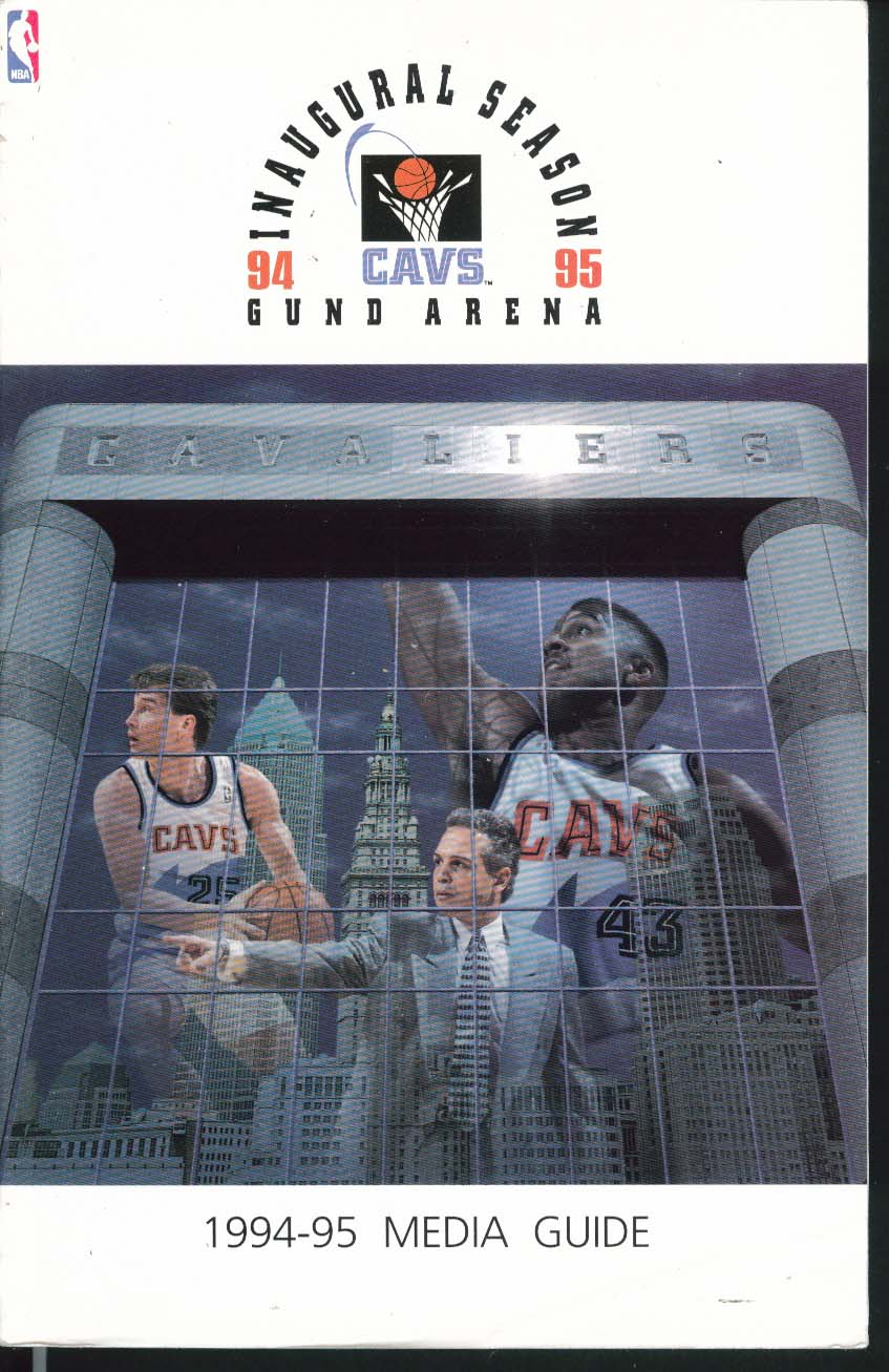 Image for Cleveland Cavaliers Cavs Inaugural Season 1994 1995 NBA Media Guide