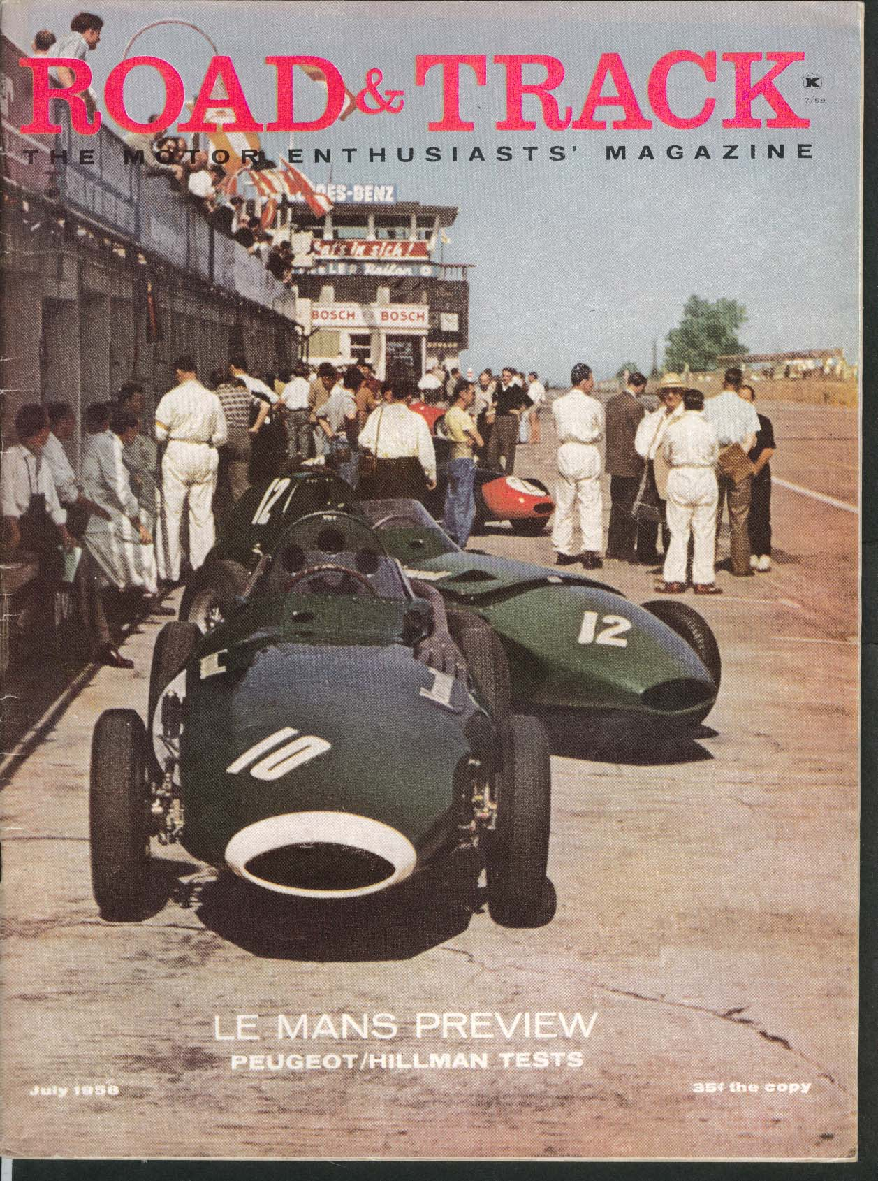 Image for ROAD & TRACK Le Mans Preview Peugeot 403 Hillman Road Tests Maserati ++ 7 1958