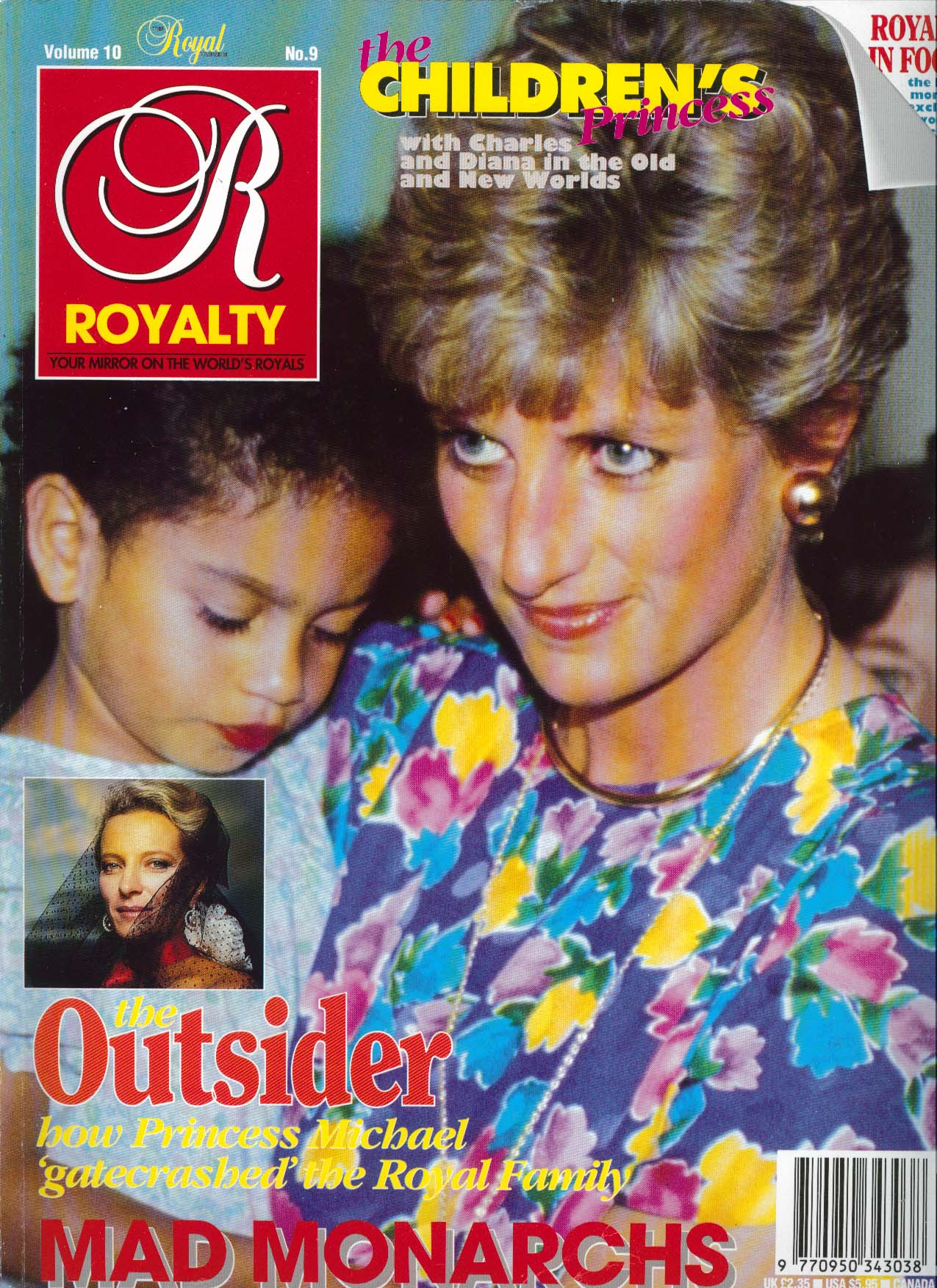 Image for ROYALTY MONTHLY Princess Michael Diana & Children 6 1991
