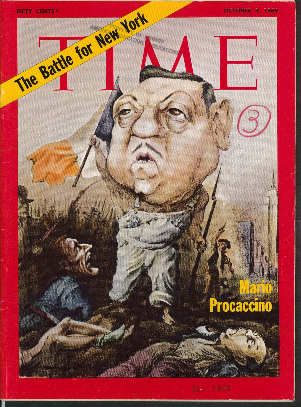 Image for TIME Mario Procaccino Nixon Zeno Thieu West Germany Golda Meir 10/3 1969