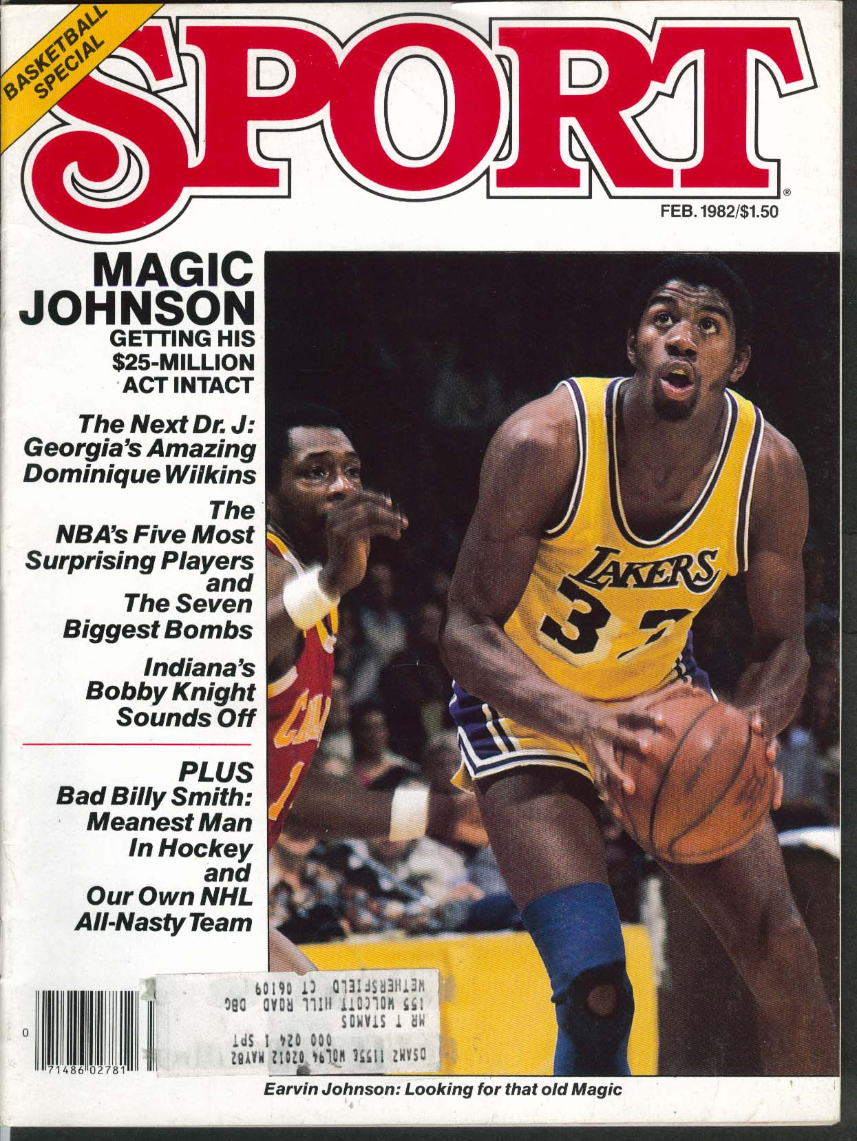 Image for SPORT Earvin Magic Johnson Dominique Wilkins Bobby Knight Billy Smith ++ 2 1982