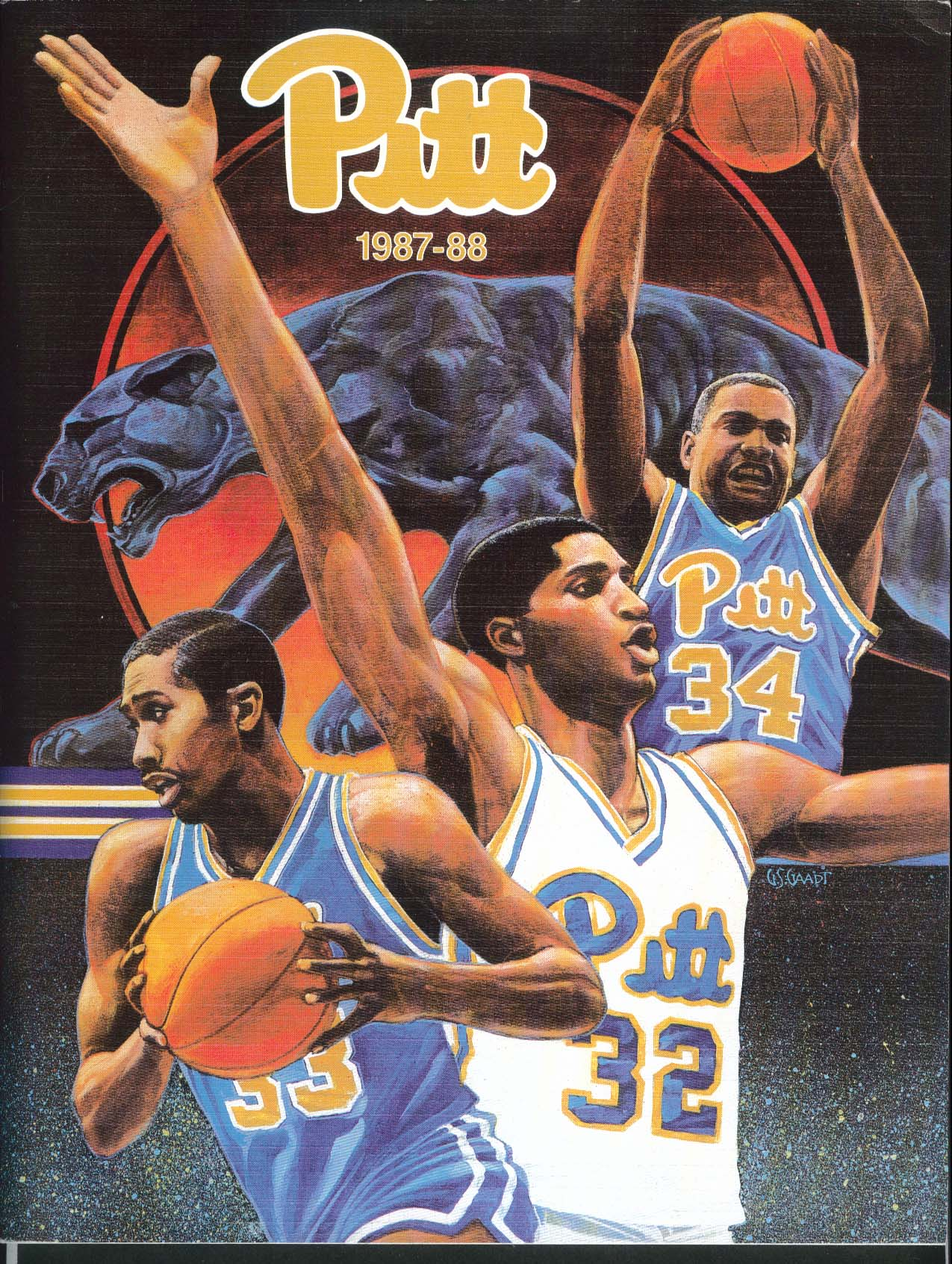 Image for Pitt Basketball Yearbook 1987-1988 University of Pittsburgh