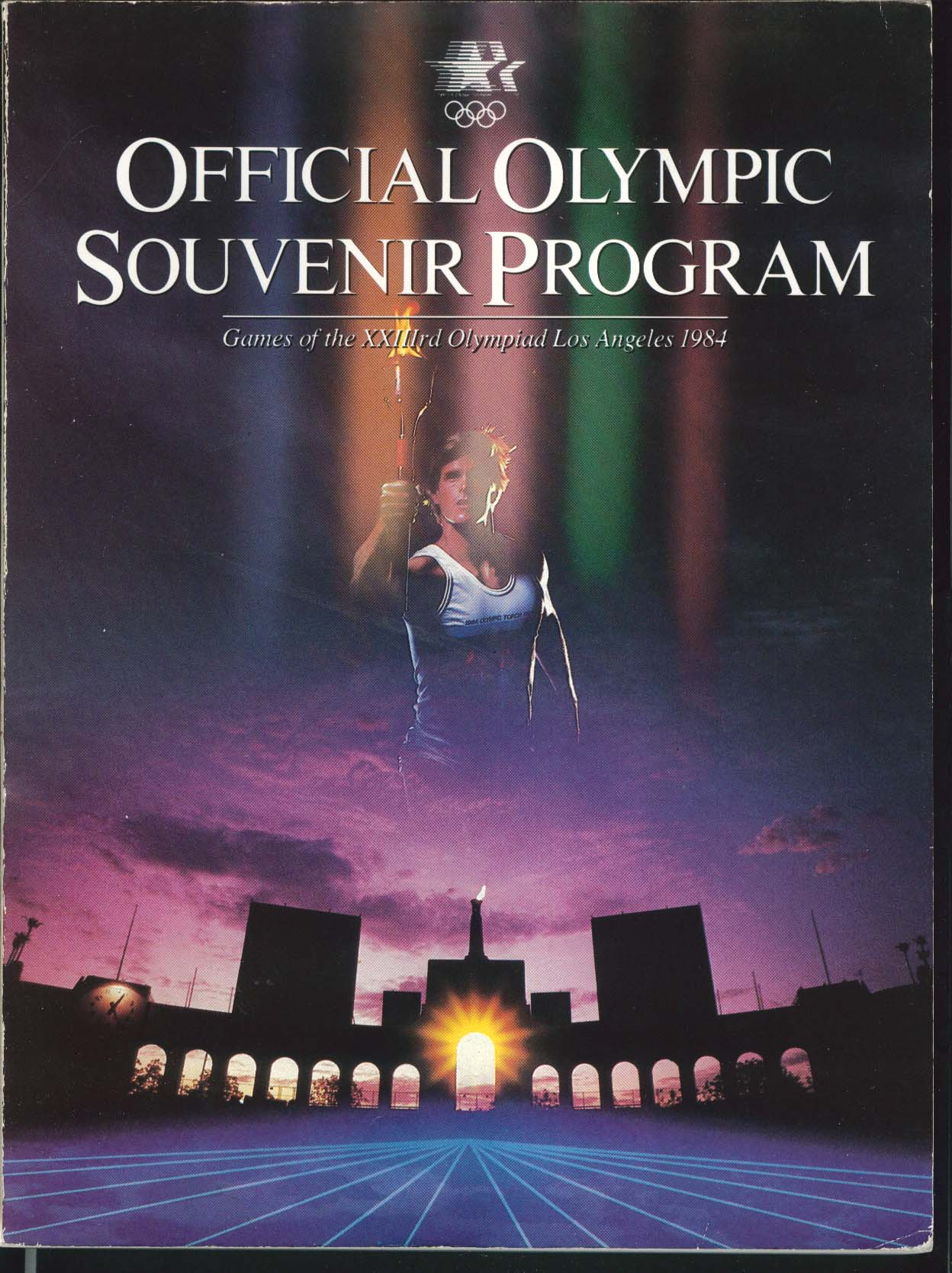 Image for Official Olympic Souvenir Program 33rd Olympiad Los Angeles 1984